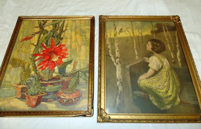 2 1940's Framed Prints