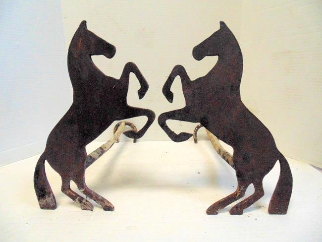 Pair of Horse Andirons