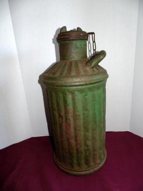 Green Ribbed Automotive Gas Can