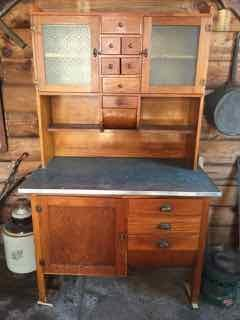 Oak Kitchen Bakers Hoosier Cabinet
