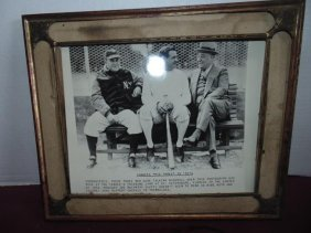 Framed Photo Of Babe Ruth