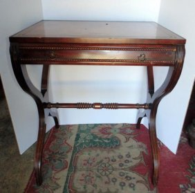 Mahogany One Drawer End Tables
