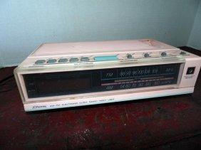 1960's Pink Clock Radio