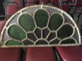 Cast Iron & Stain Glass Window