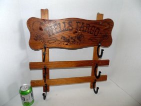 Wells Fargo Cowboy Western Boys Wall Rack