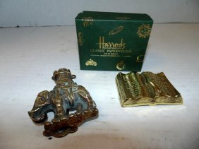 Harrods Paperweight & Elephant Door Knocker