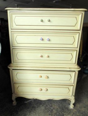 French Provencial Tall Chest