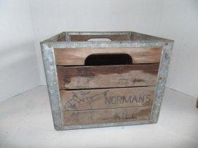 Normanskill Dairy Wood Milk Crate