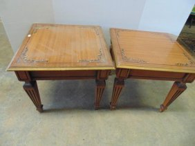 Decorated End Tables