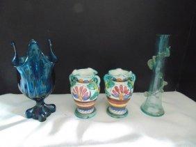 Mid Century Glass & Italian Vases