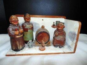 Wood Carved Monks