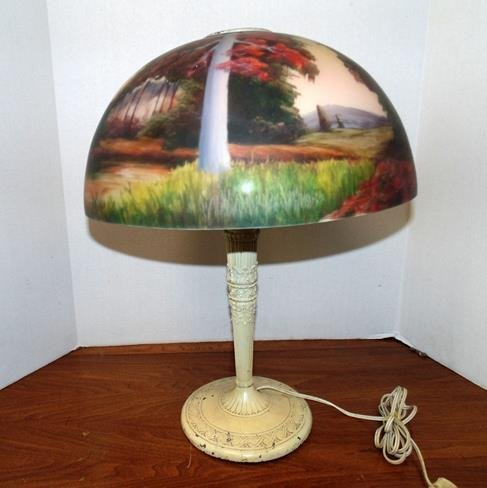 Miller Lamp with Reverse Painted Shade