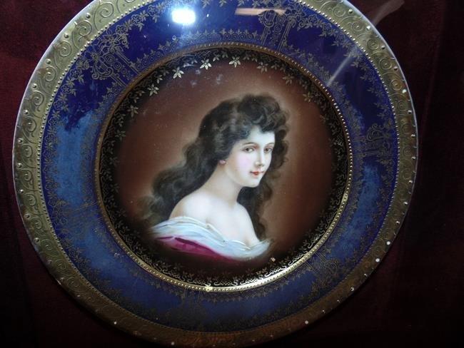 Royal Vienna Portrait Plate