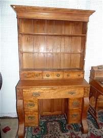 Tiger Maple Secretary Desk