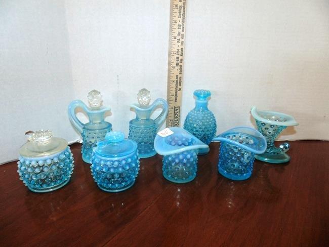 Blue Hobnail Glass