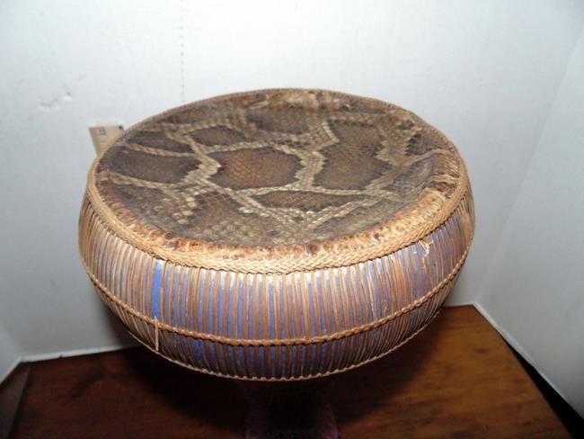 Middle Eastern Snake Skin & Porcealin Drum - 2
