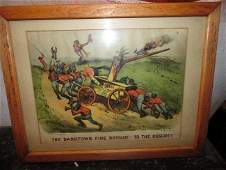 Currier & Ives Dark Town Fire Brigade To The Rescu