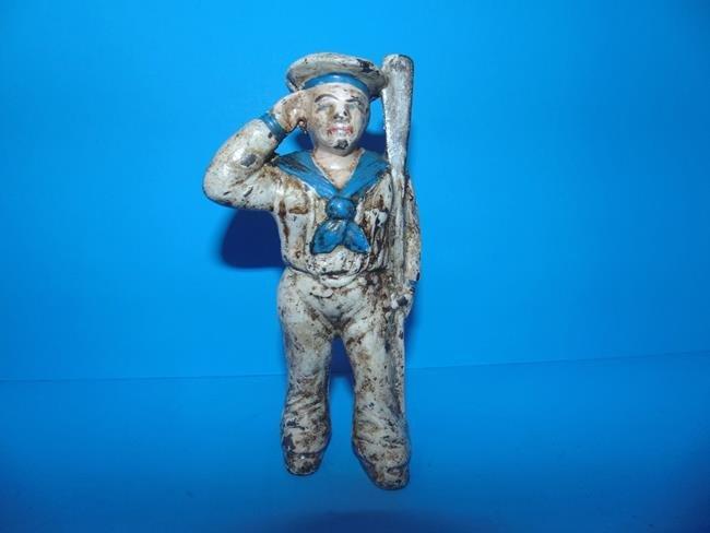 Sailor Cast Iron Still Bank