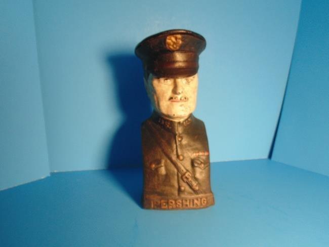 General Pershing Cast Iron Still Bank