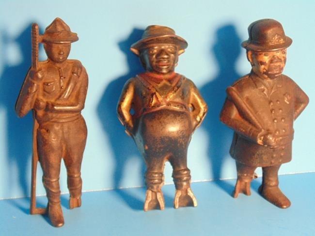 3 Cast Iron Figural Still Banks