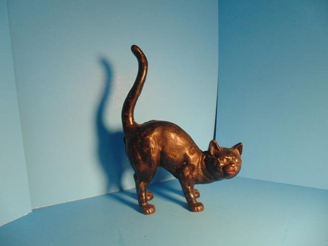 Arched Back Black Cat Door Stop