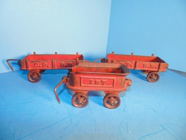 Cast Iron Railroad Train Cars