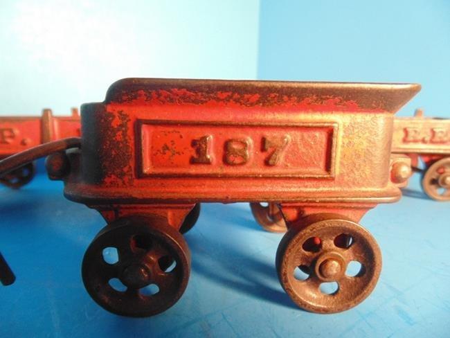 Cast Iron Railroad Train Cars - 2