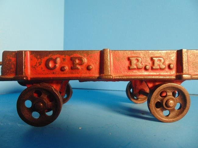 Cast Iron Railroad Train Cars - 3