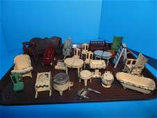 Cast Iron Doll House Furniture Including Arcade