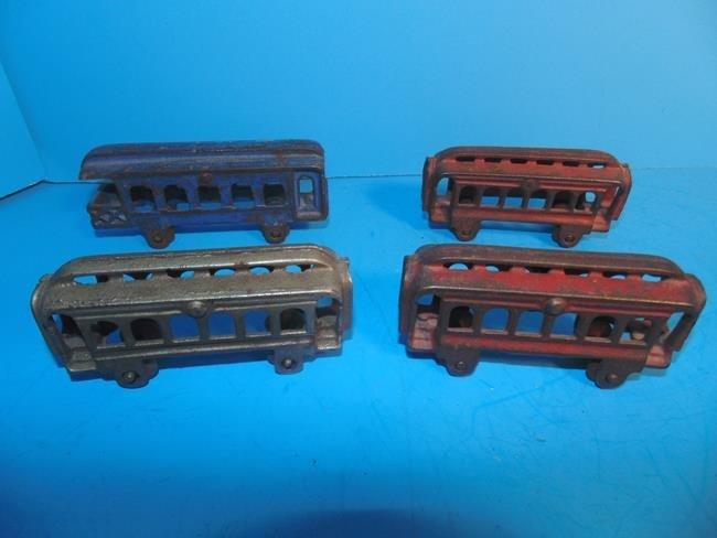 Cast Iron Trolley Cars