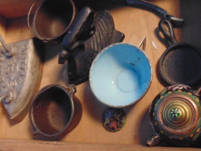 Cast Iron Toy Pots & Pans - 6