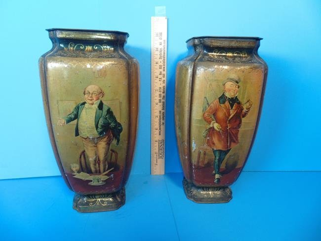 Old Curiosity Shop Pedestal Tins