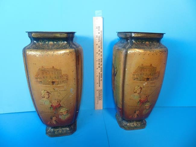 Old Curiosity Shop Pedestal Tins - 2