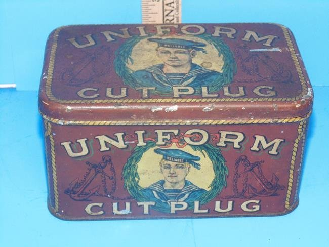 Uniform Cut Plug Tobacco Tin - 6