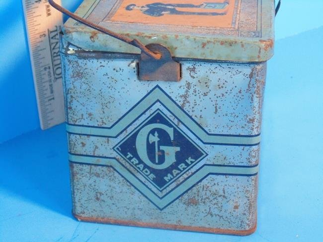 Gail & Ax Navy Tobacco Lunch Box Tin - 2