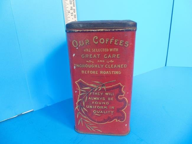 Bouquet Coffee Tin Litho Can - 2