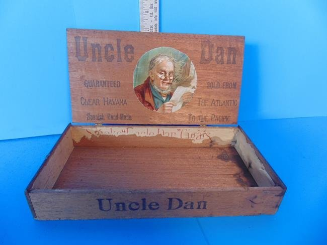 Uncle Dan Spanish Hand Made Cigar Box