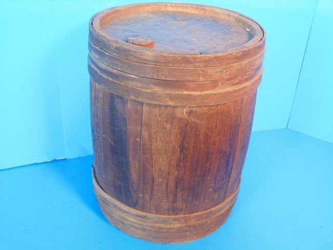 Wood Barrel Stenciled Top
