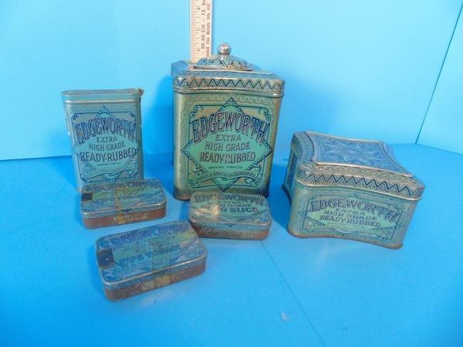Edgeworth Tobacco Tins