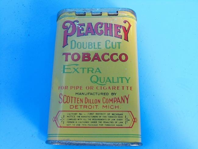 Peachey Double Cut Tobacco Tin - 2