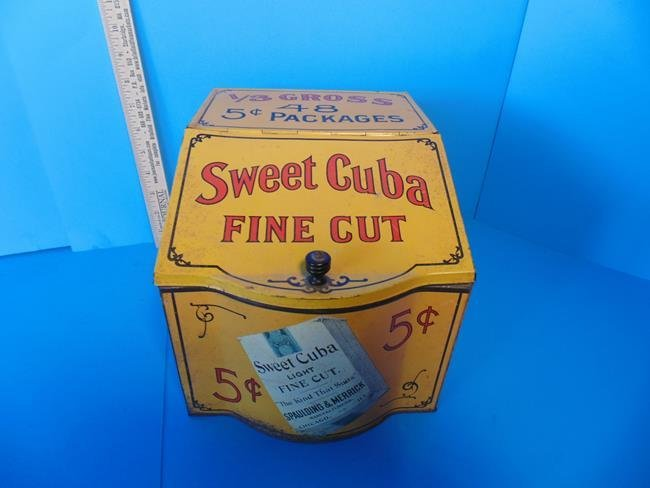 Sweet Cuba Fine Cut Tobacco Store Display Tin