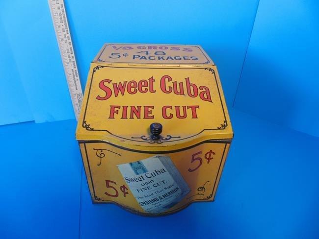 Sweet Cuba Fine Cut Tobacco Store Display Tin