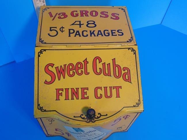 Sweet Cuba Fine Cut Tobacco Store Display Tin - 4