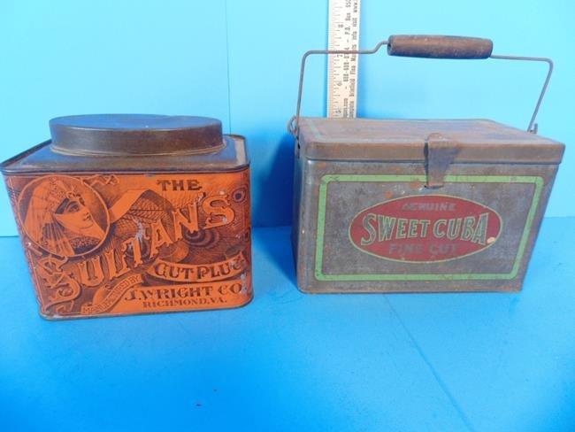 Sultan's Tobacco  & Sweet Cuba Tobacco Tins