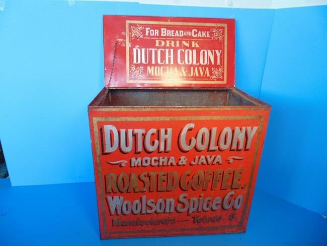 Dutch Colony Coffee Country Store Display Bin