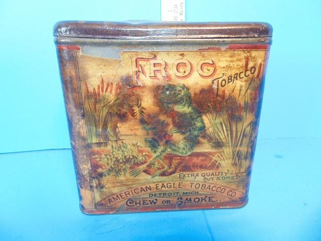 American Eagle Tobacco Co. Frog Tin