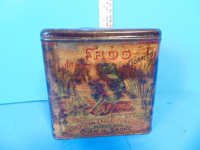 American Eagle Tobacco Co. Frog Tin - 2