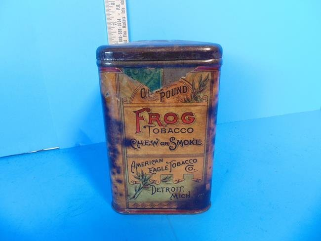 American Eagle Tobacco Co. Frog Tin - 5
