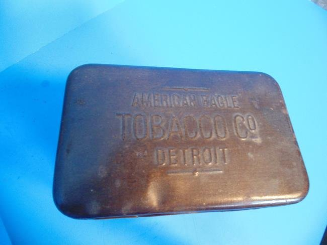 American Eagle Tobacco Co. Frog Tin - 6