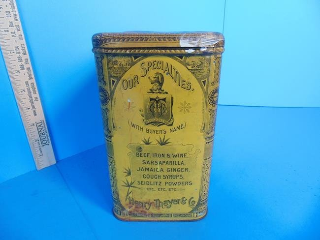 Slippery Elm Lozenges Tin Litho Container - 3